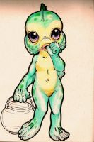Cute Monsters little baby lagoon original by IZZY-BD