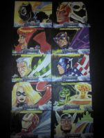 UPPER DECK Marvel Sketch cards Horizontal set by Thuddleston