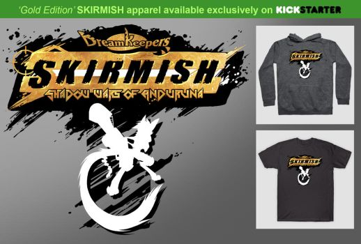 Gold-Edition SKIRMISH apparel by Dreamkeepers