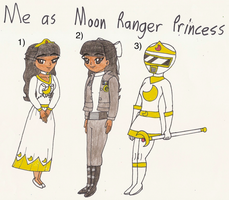 Power Rangers in Space: Me as Moon Ranger Princess by Magic-Kristina-KW