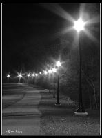 Bike Path At Night by MariusStormcrow
