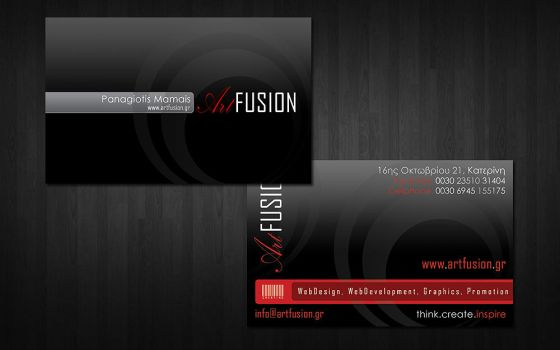 My new n shiny business card by ArchangelGR
