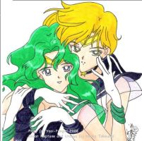 +Sailor Uranus and Neptune+ by yaoi-fangirl