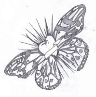 Tattoo Design - Butterfly Love by nobody-cares