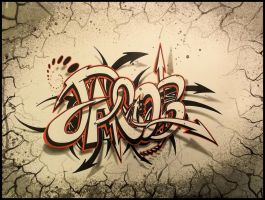 Lettering with Sharpie- Jacob by PinstripeChris