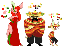 (anifood) caliente family by SpikesGirlfriend