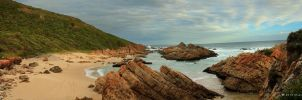 Keurbooms Beach Pano by Photomerwe