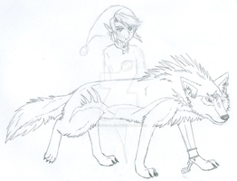 wolf link 1 by crystal-alius