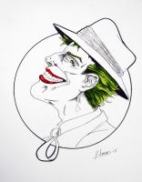 Joker Color Accent Head Sketch by JSimonART