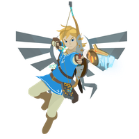 Link - Legend of Zelda Breath of the Wild - Vector by firedragonmatty