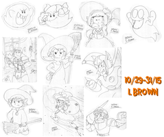 Sketch Pile - VG's Hallow's Eve by LuigiStar445