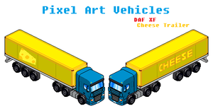 Vehicle Pixel Art DAF XF With Trailer (Commision) by Luckymarine577