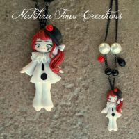 Pierrot Doll Polymer Clay by Nakihra