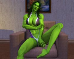 She hulk Exclusive excluded 00 by MorganCygnus