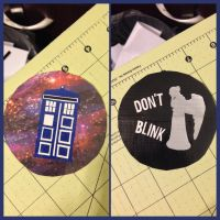 Doctor Who/Angel Ornament by GuardianKrayla