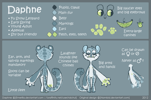 Daphne REFERENCE SHEET by VCR-WOLFE