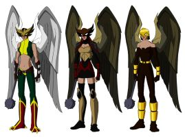 Hawk Women based on Phil Bourassa's work by Majinlordx
