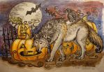 ::Scary Wolfy Halloween 2011:: by Veirilin