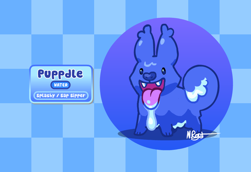 Fakemon: Slobbery Puppy by The-Knick