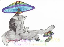Silver and Rainbow Mushrooms by Iris-Cougar