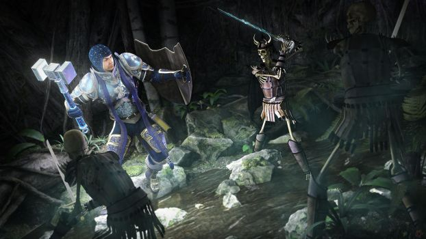 Paladin and Paragon vs. Balach by argel1200