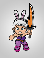 Bunny Riven Comission by adhytcadelic