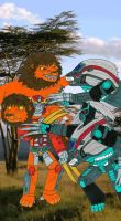 Beast Wars Battle of the Lions by MCsaurus