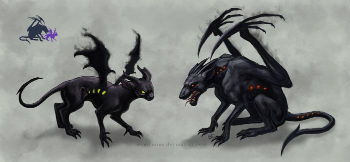 Two more imp creatures by MeMyMine