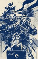 SNAKE AND OTACON by aaronminier