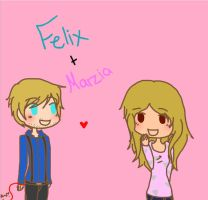 Felix + Marzia. by ItsCAPTAIN-ToYou-Lad