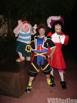 Hook Sora And Smee by Vqstudios
