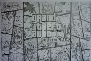 Grand Theft Auto Gotham CIty by steelcitycustomart