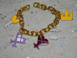 Kingdom Hearts Charm Bracelet by kouweechi