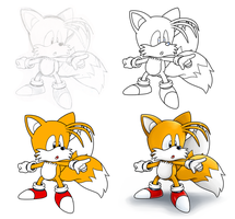 Tails process by Nintendrawer