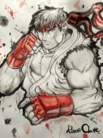 FGE Traditional Art Contest Entry - Ryu Watercolor by SHizukA-Shi