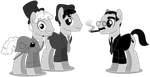 Marx Brothers Ponies - PNG by Larsurus
