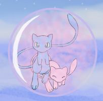 Mew bubble by sunnyfish
