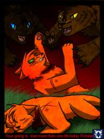 Firestar vs. Darkforest by leaderofmoonclan