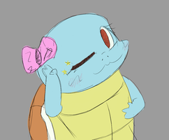 QT Squirtle Sketch by LiraCrown