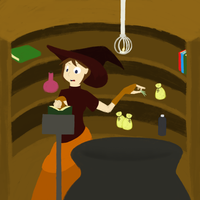 Witch at work by devyni