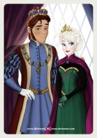 Royal Couple - Queen Elsa and King Hans by PrincessOfCorona