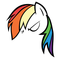 Angry Rainbow Dash Contour v0.5 by QQwich
