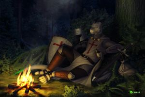 Knight in the forest [COM] by Cereus93