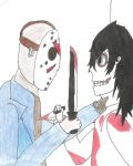 Jason Vorhees vs Jeff The Killer by princeblack666