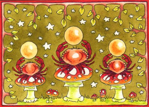 Crabs Hold the Spirit Orbs by amyweber
