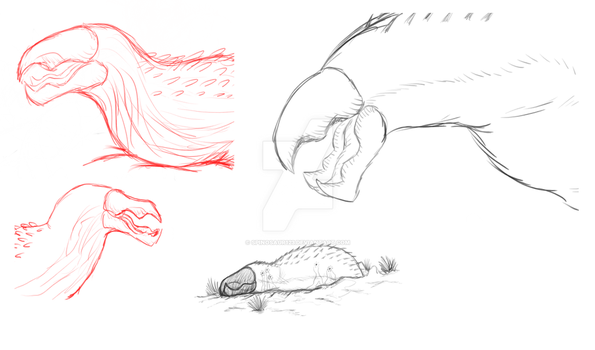 Graboids sketches by Spinosaur123