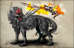 .: Dark Okami  :. by WhiteSpiritWolf
