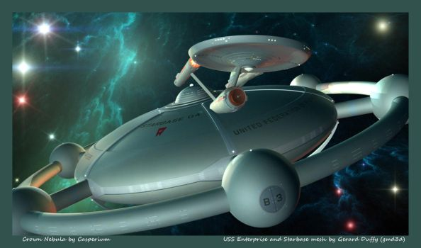 Starbase 04 and the USS Enterprise by gmd3d