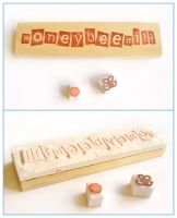 Honeybeehill logo stamp by restlesswillow