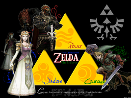 Triforce Desktop Background by Aerostella